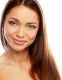 Κορίτσι Brunette με το όμορφο χαμόγελο Στοκ εικόνες με δικαίωμα ελεύθερης χρήσης