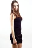 κορίτσι brunette συμπαθητικό στοκ εικόνες με δικαίωμα ελεύθερης χρήσης
