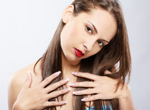 κορίτσι brunette στοκ φωτογραφία με δικαίωμα ελεύθερης χρήσης