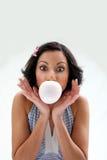 κορίτσι bubblegum Στοκ εικόνα με δικαίωμα ελεύθερης χρήσης