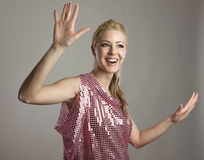 Κορίτσι disco κόμματος Στοκ εικόνα με δικαίωμα ελεύθερης χρήσης