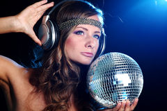 κορίτσι disco Στοκ εικόνα με δικαίωμα ελεύθερης χρήσης
