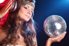 κορίτσι disco στοκ εικόνες