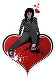 κορίτσι emo απεικόνιση αποθεμάτων