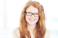 Κορίτσι eyeglasses Στοκ Εικόνα