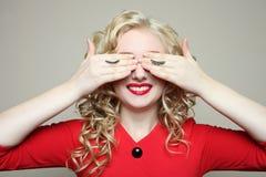 Κορίτσι, eyelash επέκταση Στοκ φωτογραφίες με δικαίωμα ελεύθερης χρήσης