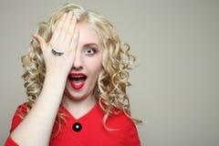 Κορίτσι, eyelash επέκταση στοκ φωτογραφίες