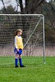 κορίτσι goalie Στοκ Φωτογραφίες