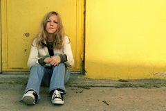 κορίτσι grunge Στοκ Εικόνες