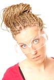 κορίτσι hairstyle πολλές κοτσίδ&eps Στοκ φωτογραφία με δικαίωμα ελεύθερης χρήσης