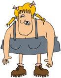 Κορίτσι Hillbilly Στοκ φωτογραφία με δικαίωμα ελεύθερης χρήσης