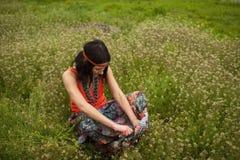κορίτσι hippy Στοκ Φωτογραφίες