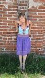 κορίτσι hippy Στοκ φωτογραφίες με δικαίωμα ελεύθερης χρήσης