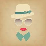 Κορίτσι Hipster. Στοκ Εικόνες