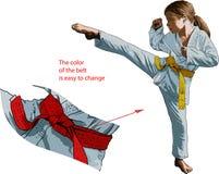 Κορίτσι Karateka Στοκ φωτογραφίες με δικαίωμα ελεύθερης χρήσης
