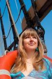κορίτσι lifebuoy Στοκ φωτογραφία με δικαίωμα ελεύθερης χρήσης