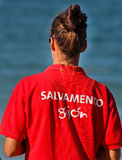 Κορίτσι Lifeguard Στοκ Εικόνες