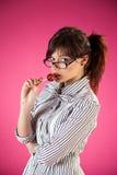 κορίτσι lollipop Στοκ εικόνα με δικαίωμα ελεύθερης χρήσης