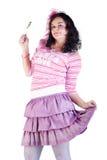 κορίτσι lollipop στοκ εικόνα
