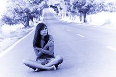 κορίτσι Lost young στοκ εικόνες