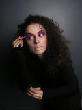 κορίτσι makeup Στοκ εικόνα με δικαίωμα ελεύθερης χρήσης