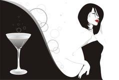 κορίτσι martini Στοκ εικόνες με δικαίωμα ελεύθερης χρήσης