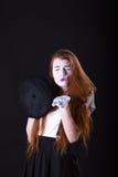 Κορίτσι Mime που στέλνει ένα φιλί Στοκ φωτογραφίες με δικαίωμα ελεύθερης χρήσης