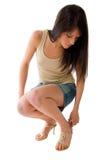 κορίτσι miniskirt που φορά Στοκ Εικόνες