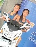 κορίτσι motoshow Στοκ Εικόνες
