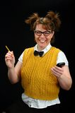 κορίτσι nerd Στοκ φωτογραφία με δικαίωμα ελεύθερης χρήσης