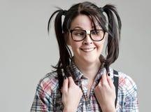 κορίτσι nerd στοκ εικόνες με δικαίωμα ελεύθερης χρήσης