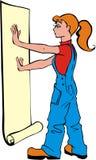 κορίτσι paperhanger Στοκ φωτογραφία με δικαίωμα ελεύθερης χρήσης