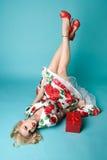 Κορίτσι Pinup Χριστουγέννων Στοκ φωτογραφίες με δικαίωμα ελεύθερης χρήσης