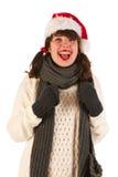 Κορίτσι Santa Στοκ Εικόνα