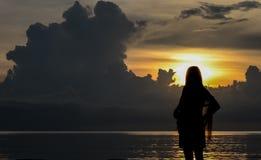 κορίτσι sihouette Στοκ Φωτογραφία