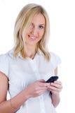 κορίτσι sms που γράφει Στοκ εικόνα με δικαίωμα ελεύθερης χρήσης
