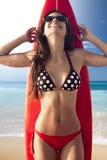 Κορίτσι Surfer Στοκ εικόνες με δικαίωμα ελεύθερης χρήσης