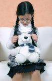 κορίτσι teddy Στοκ φωτογραφίες με δικαίωμα ελεύθερης χρήσης