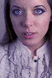 κορίτσι W μπλε ματιών Στοκ εικόνα με δικαίωμα ελεύθερης χρήσης