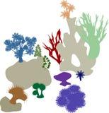 Κοραλλιογενής ύφαλος ζωηρόχρωμες σκιαγραφίε&sigma Στοκ φωτογραφία με δικαίωμα ελεύθερης χρήσης