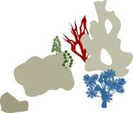 Κοραλλιογενής ύφαλος ζωηρόχρωμες σκιαγραφίε&sigma Στοκ φωτογραφίες με δικαίωμα ελεύθερης χρήσης