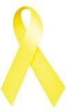 κορδέλλα κίτρινη Στοκ εικόνα με δικαίωμα ελεύθερης χρήσης