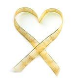 κορδέλλα καρδιών που διαμορφώνεται Στοκ Εικόνα