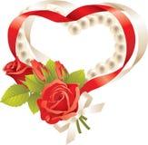κορδέλλα καρδιών που δι&al Στοκ Εικόνες