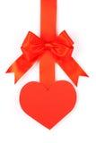 κορδέλλα καρδιών τόξων Στοκ Φωτογραφίες