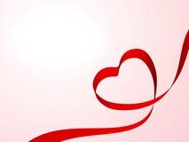 κορδέλλα καρδιών διανυσματική απεικόνιση