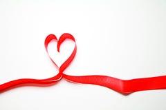 κορδέλλα καρδιών Στοκ Εικόνα