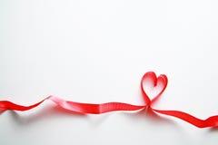 κορδέλλα καρδιών Στοκ Φωτογραφία