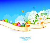 κορδέλλα χλόης αυγών Πάσχας Στοκ εικόνες με δικαίωμα ελεύθερης χρήσης