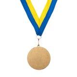 κορδέλλα χρυσών μεταλλίων Στοκ φωτογραφία με δικαίωμα ελεύθερης χρήσης